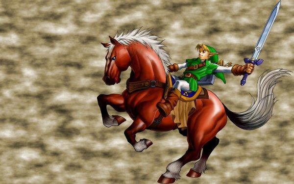 Video Game The Legend Of Zelda: Ocarina Of Time Zelda Link Epona HD Wallpaper | Background Image