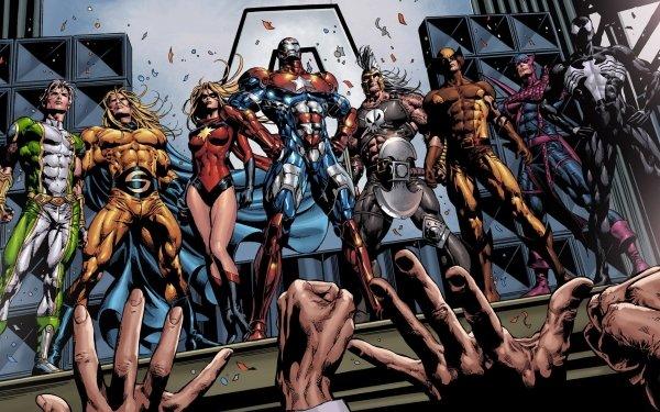 Bande-dessinées Dark Avengers Captain Marvel Iron Man Thor Wolverine Œil-de-Faucon Venom Sentry Daken Ms. Marvel Fond d'écran HD | Image