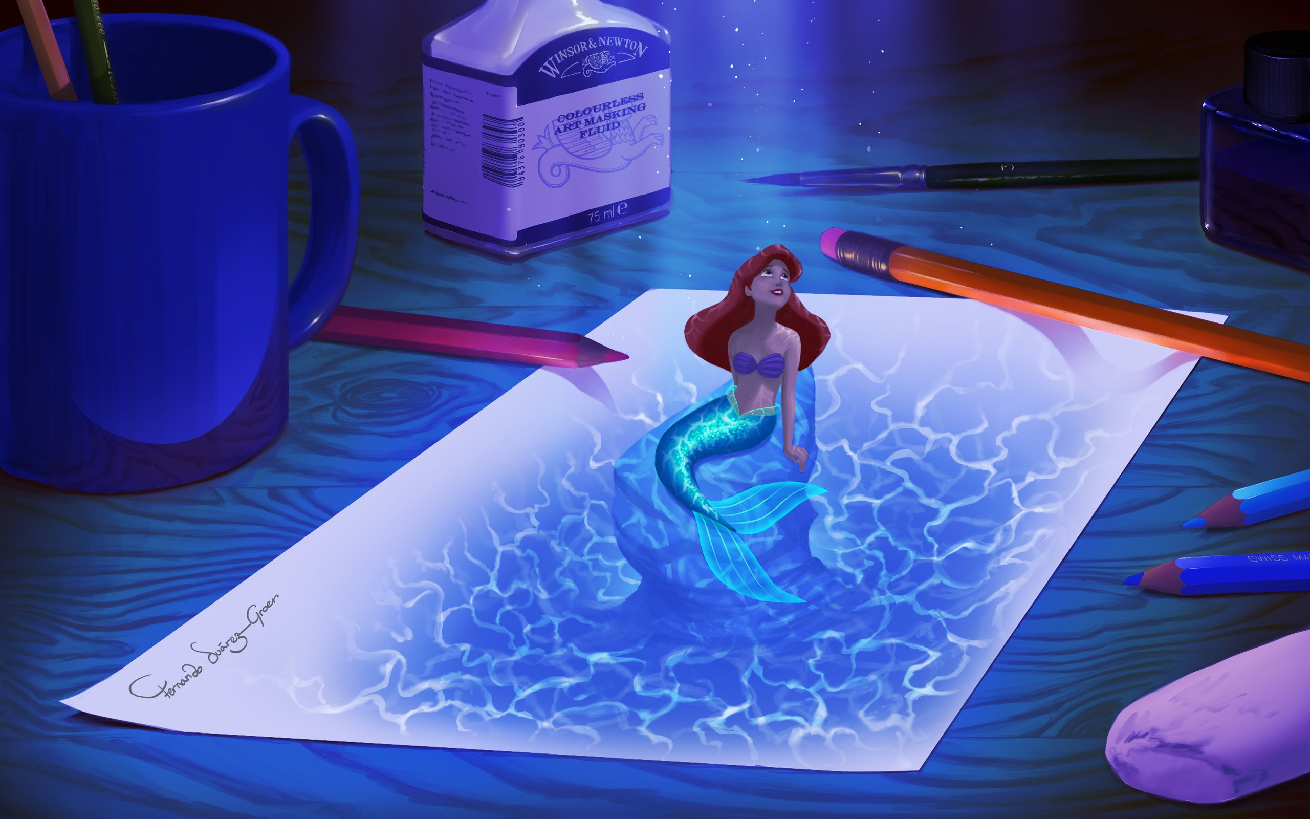The Little Mermaid Full HD Wallpaper And Background Image