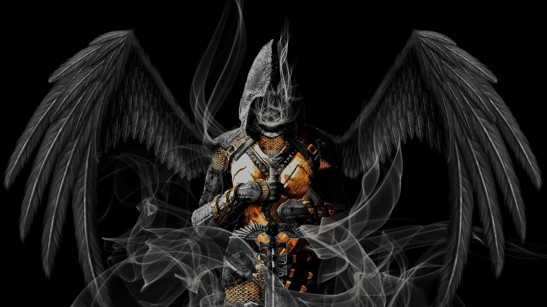 1 Angel Warrior HD Wallpapers | Backgrounds - Wallpaper Abyss