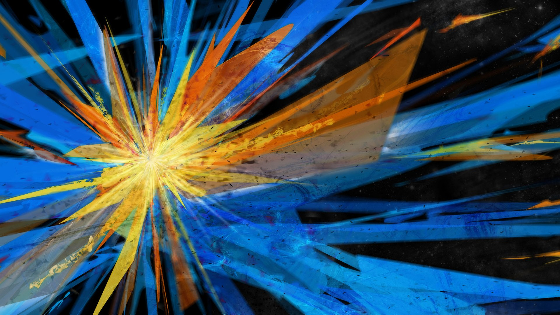 Blue And Orange Background: Colorful Explosion Full HD Wallpaper And Background Image