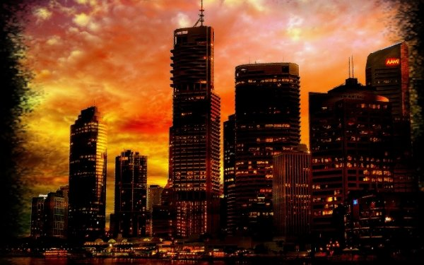 Artistic City HD Wallpaper | Background Image