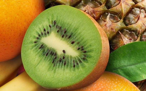 Food Fruit Fruits Pineapple Kiwi HD Wallpaper   Background Image