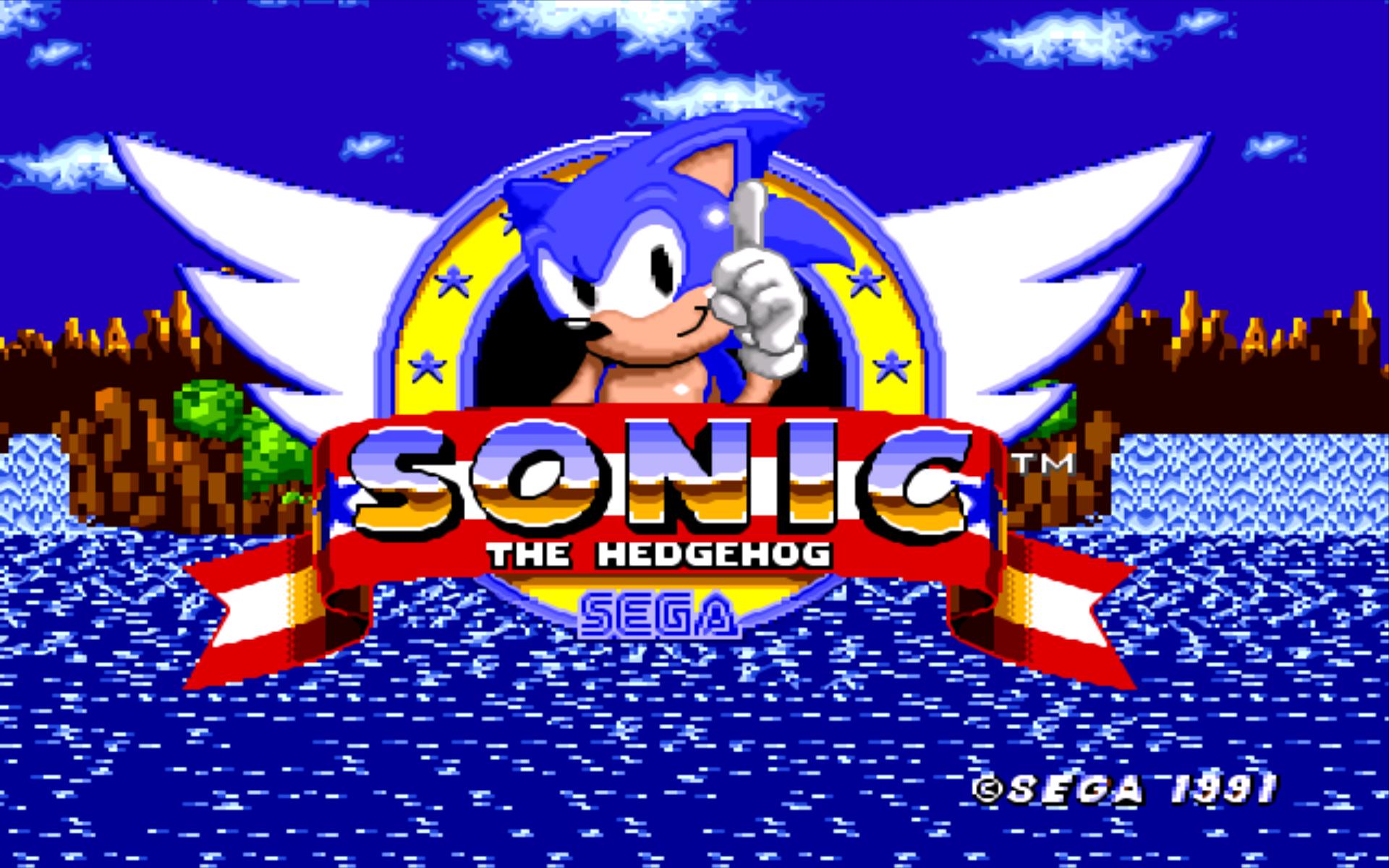 Sonic The Hedgehog 1991 Hd Wallpaper Hintergrund 1920x1200