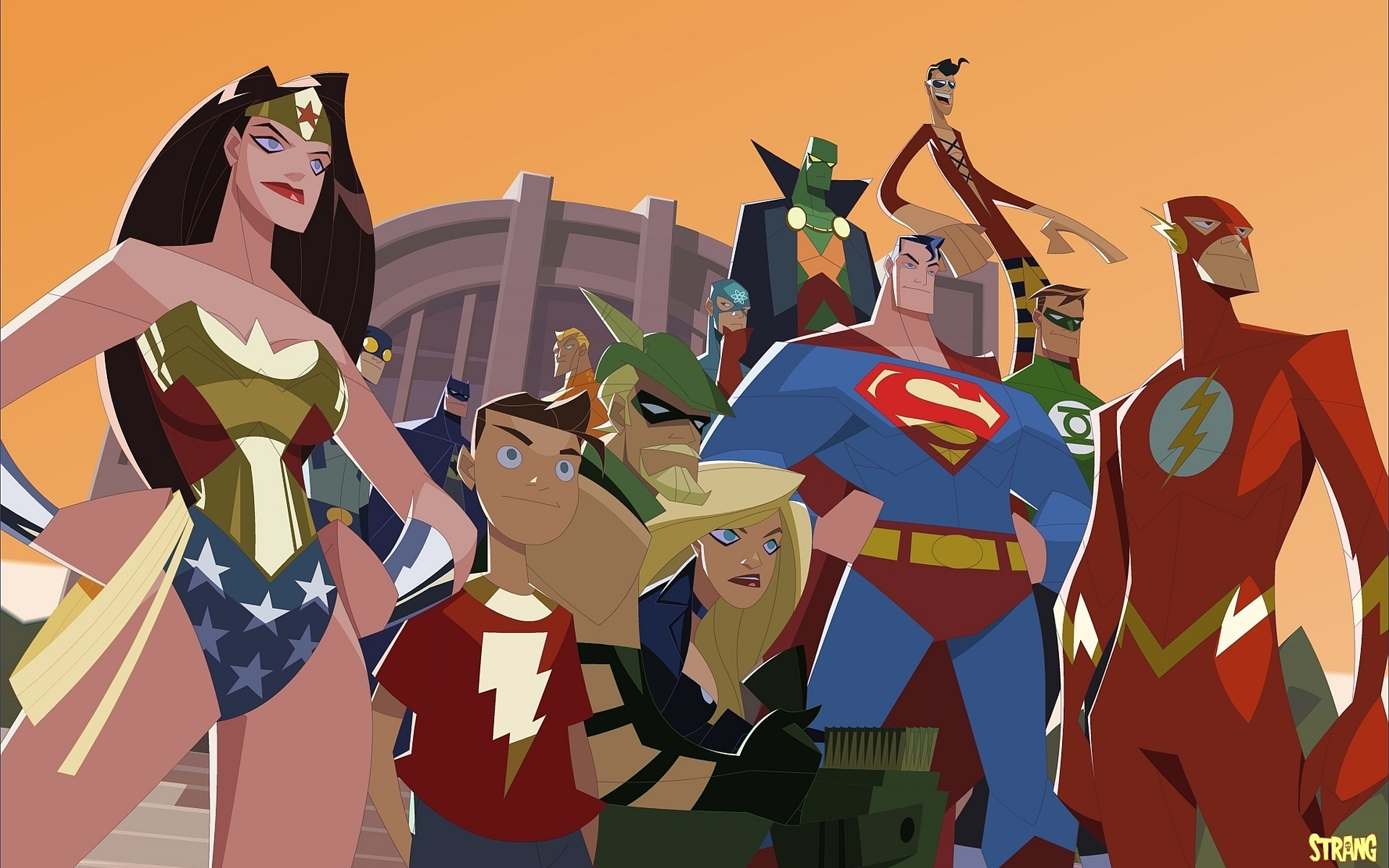 Justice League Of America Hd Wallpaper Background Image