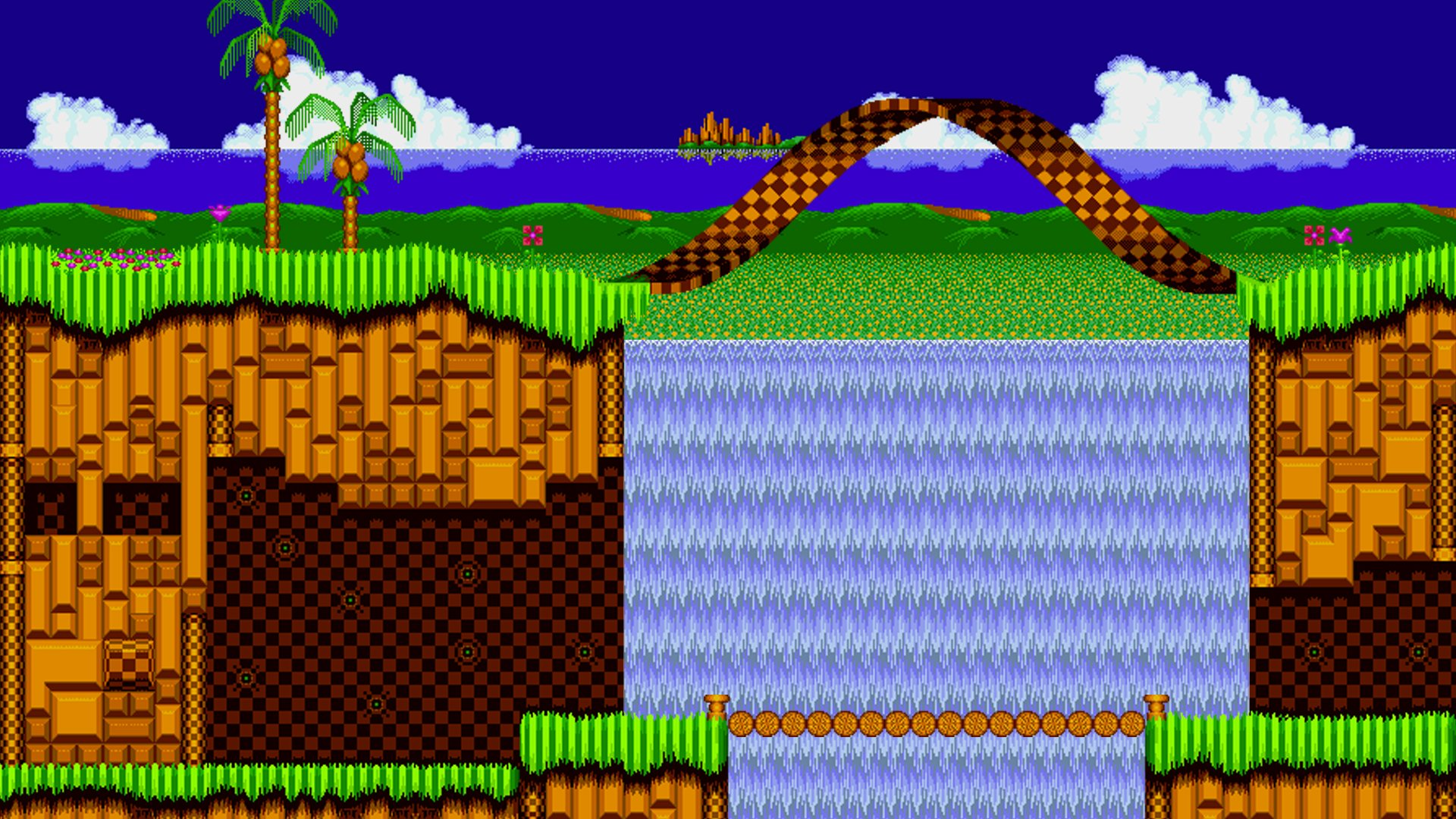 Emerald Hill Zone Full Hd Wallpaper And Background Image
