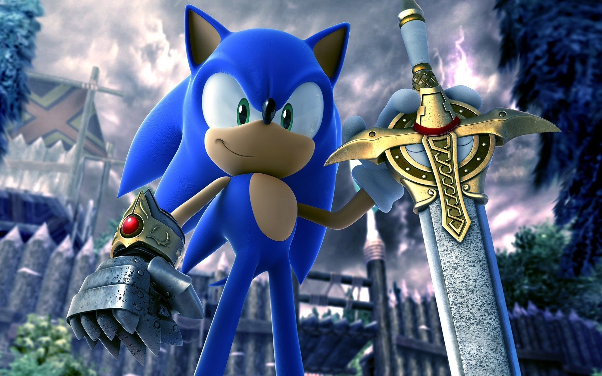 9 Sonic And The Black Knight Hd Wallpapers Background Images