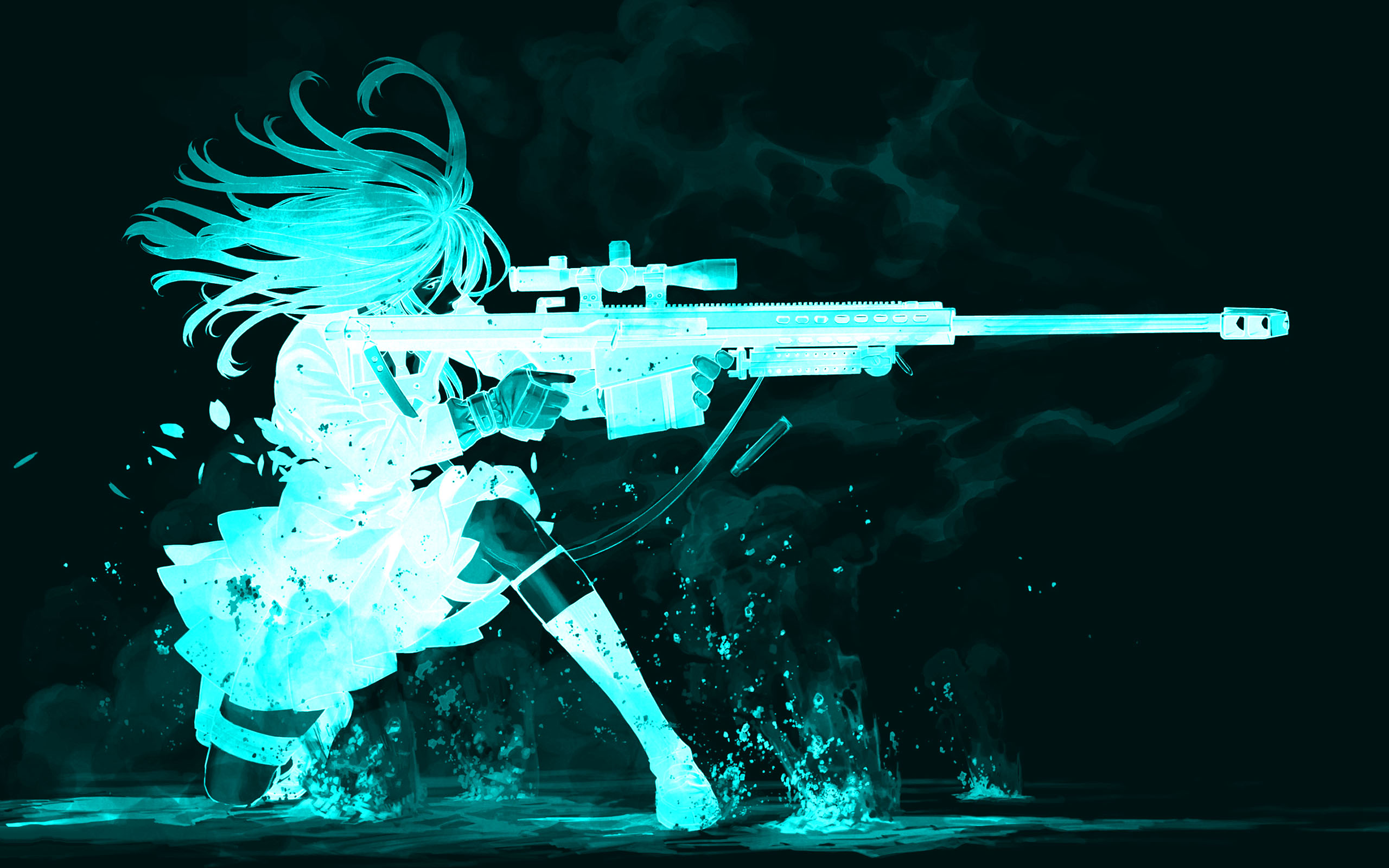 Gun Girl Computer Wallpapers Desktop Backgrounds  2560x1600 ID