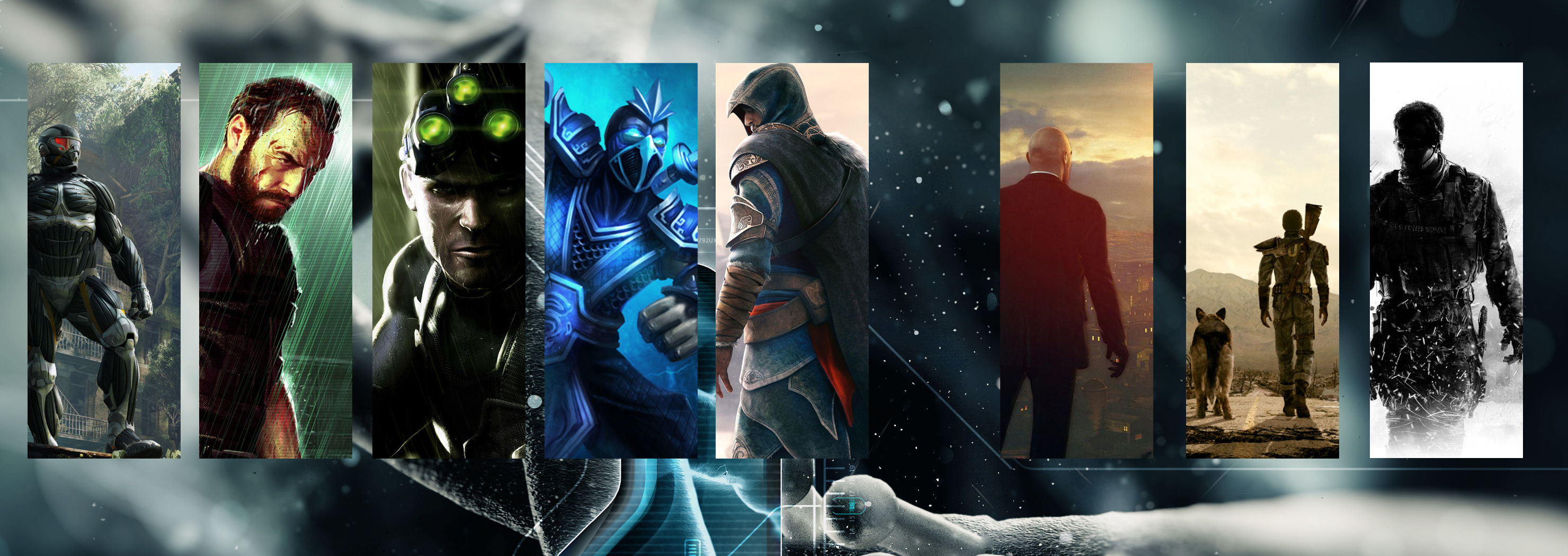 Video Game Character Collage Wallpaper Collage Wallpap...