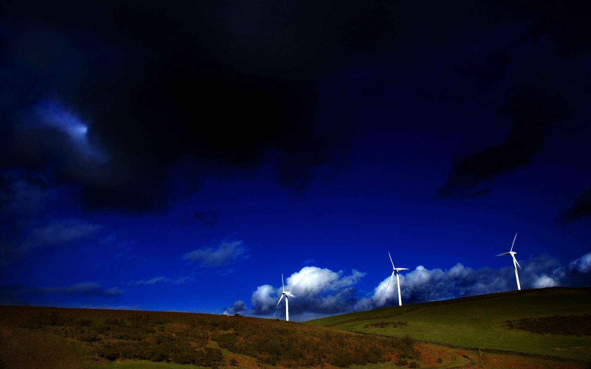 wind turbine full hd wallpaper and background image