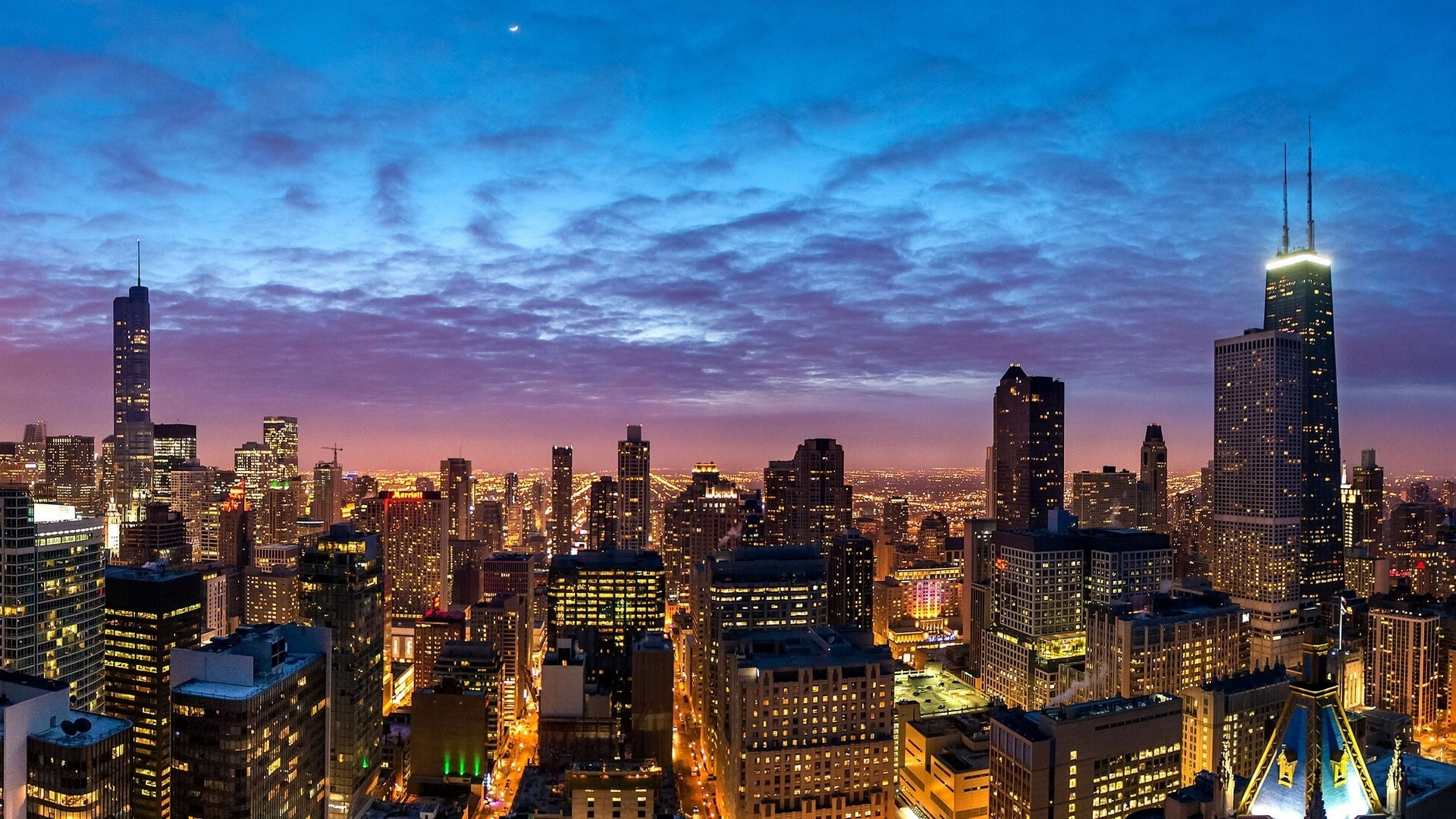 Pin chicago dual monitor wallpaper landscape nature hd for Chicago landscape