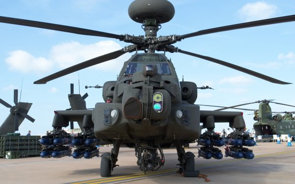 Military Boeing Ah-64 Apache Military Helicopters HD Wallpaper | Background Image