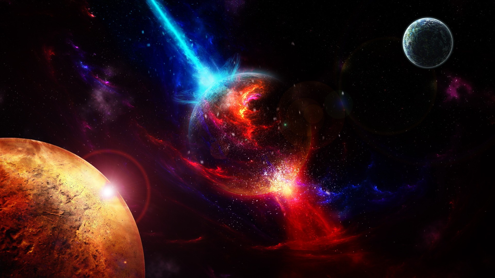 exploding planets wallpapersfor laptops - photo #13