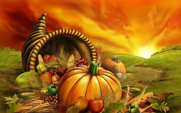 Artistic Vegetables Vegetable Corn Pumpkin Apple HD Wallpaper | Background Image