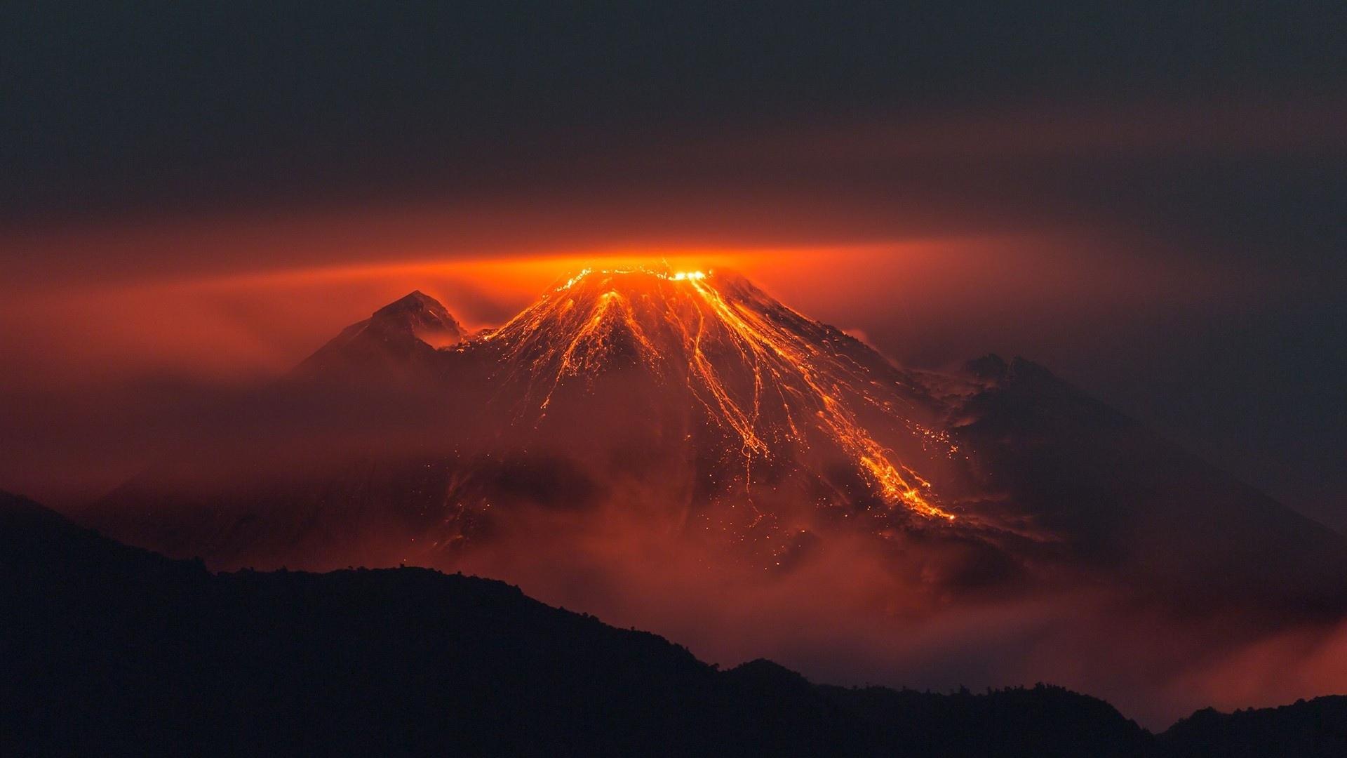 earth volcano wallpaper