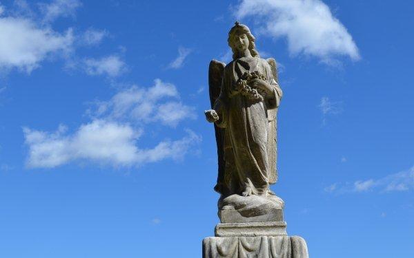Hecho por el hombre Estatua de Ángel Estatua Ángel Religious Cielo Fondo de pantalla HD | Fondo de Escritorio
