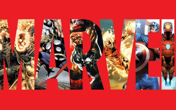 Comics Marvel Comics Ghost Rider Thor Human Torch Capitan América Iron Man Logo Fondo de pantalla HD | Fondo de Escritorio