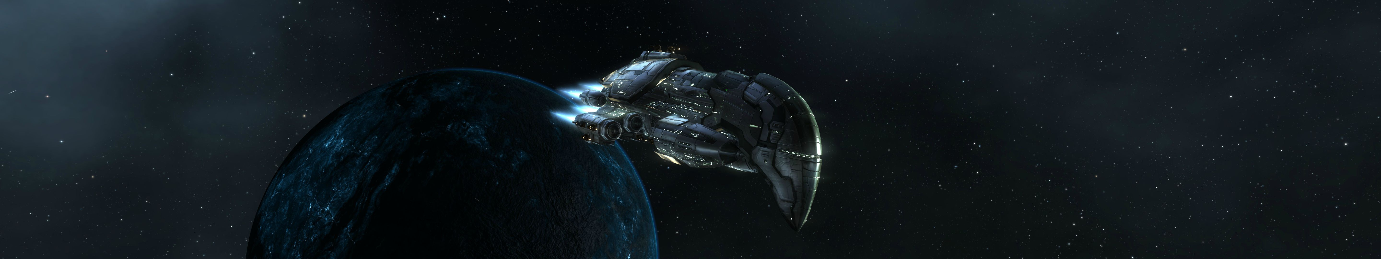 Spaceship Hd Wallpaper Background Image 5760x1080 Id 442709 Wallpaper Abyss