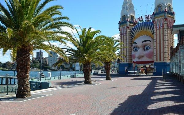 Man Made Luna Park Amusement Park Sydney Australia HD Wallpaper | Background Image
