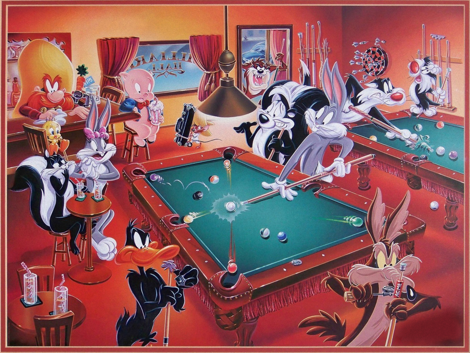 Looney tunes billiads wallpaper and background image - Looney tunes background ...