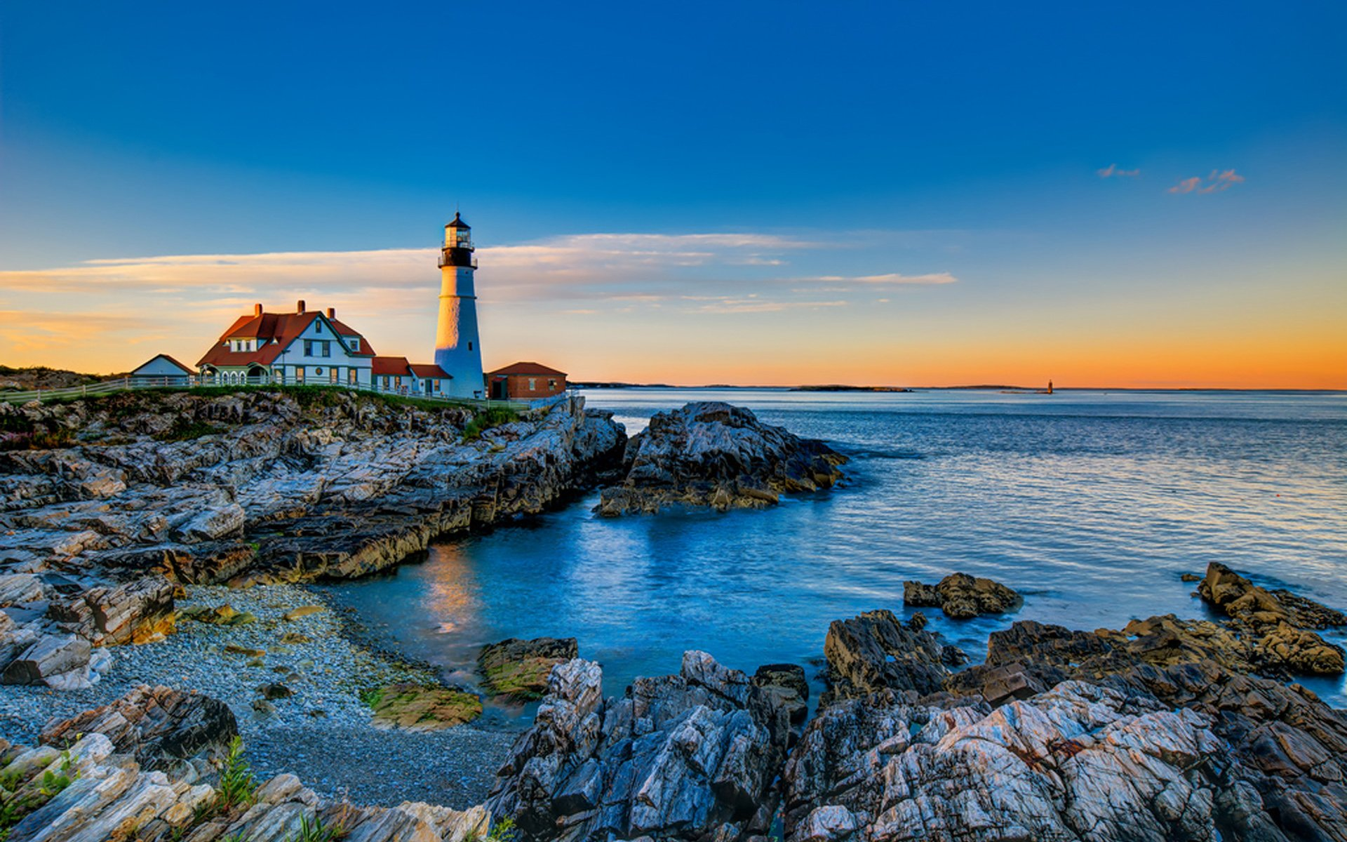 Lighthouse Hd Wallpapers: Hdr Landscape Full HD Wallpaper And Background Image