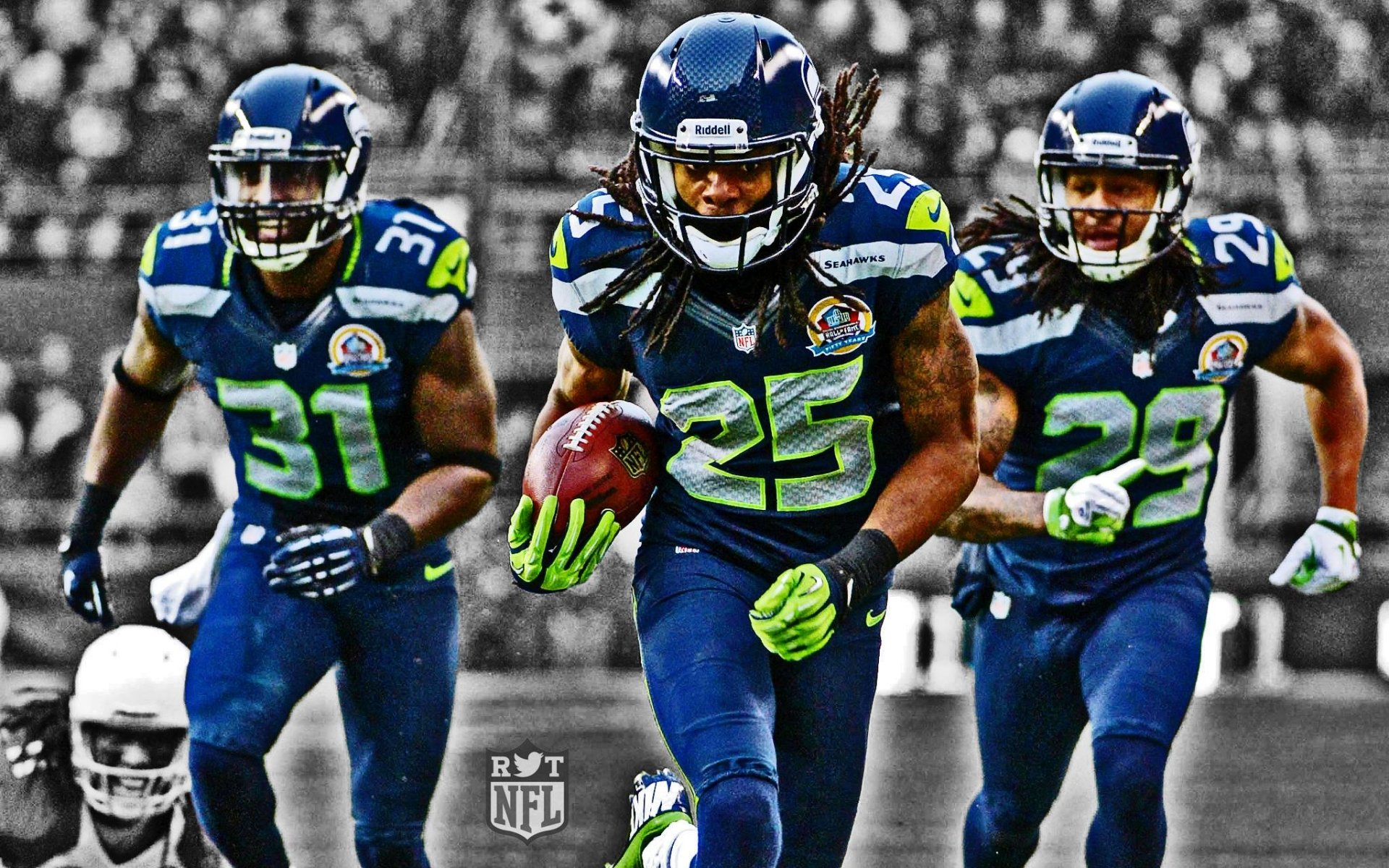 Sports - Seattle Seahawks  Richard Sherman Kam Chancellor Earl Thomas Wallpaper