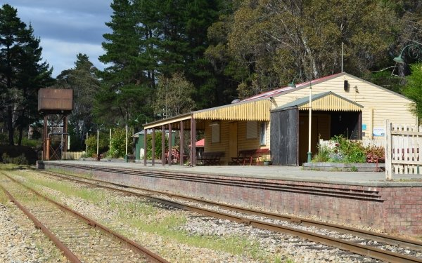 Man Made Clarence Railway Station Building Railroad Lithgow Train Station HD Wallpaper | Background Image