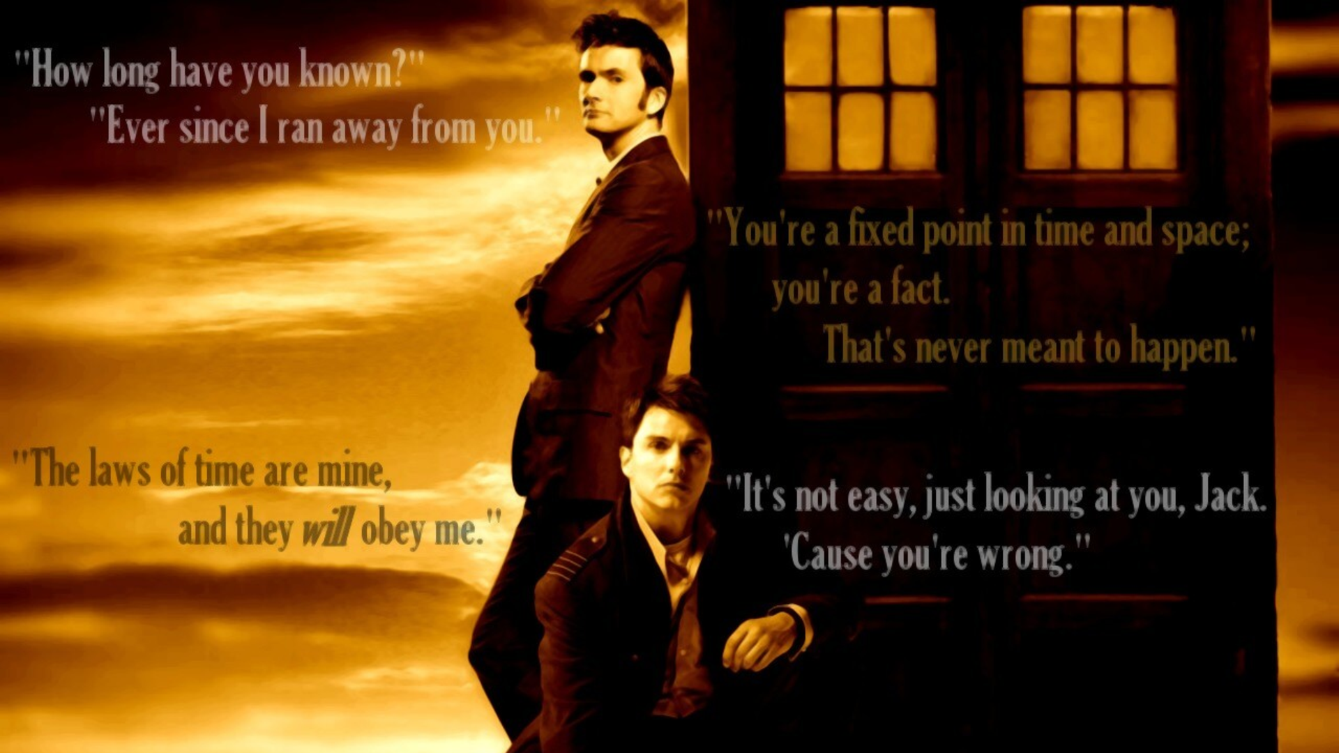 Doctor Who Wallpaper David Tennant Quote dr who Full HD Wallpap...
