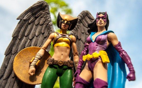 Comics Collage Hawkgirl Huntress Shiera Sanders HD Wallpaper | Background Image