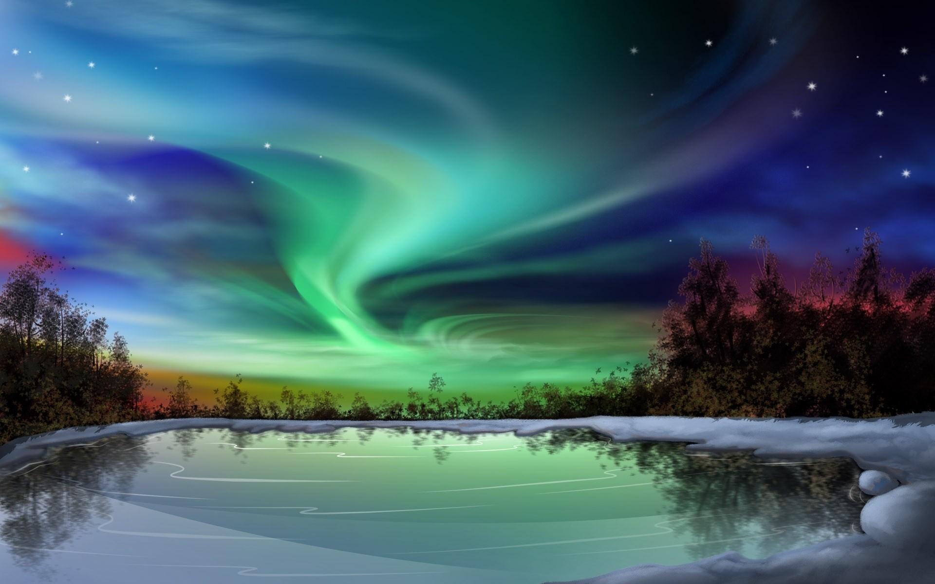 Aurora full hd sfondo and sfondo 1920x1200 id 466427 for Aurora boreale sfondo