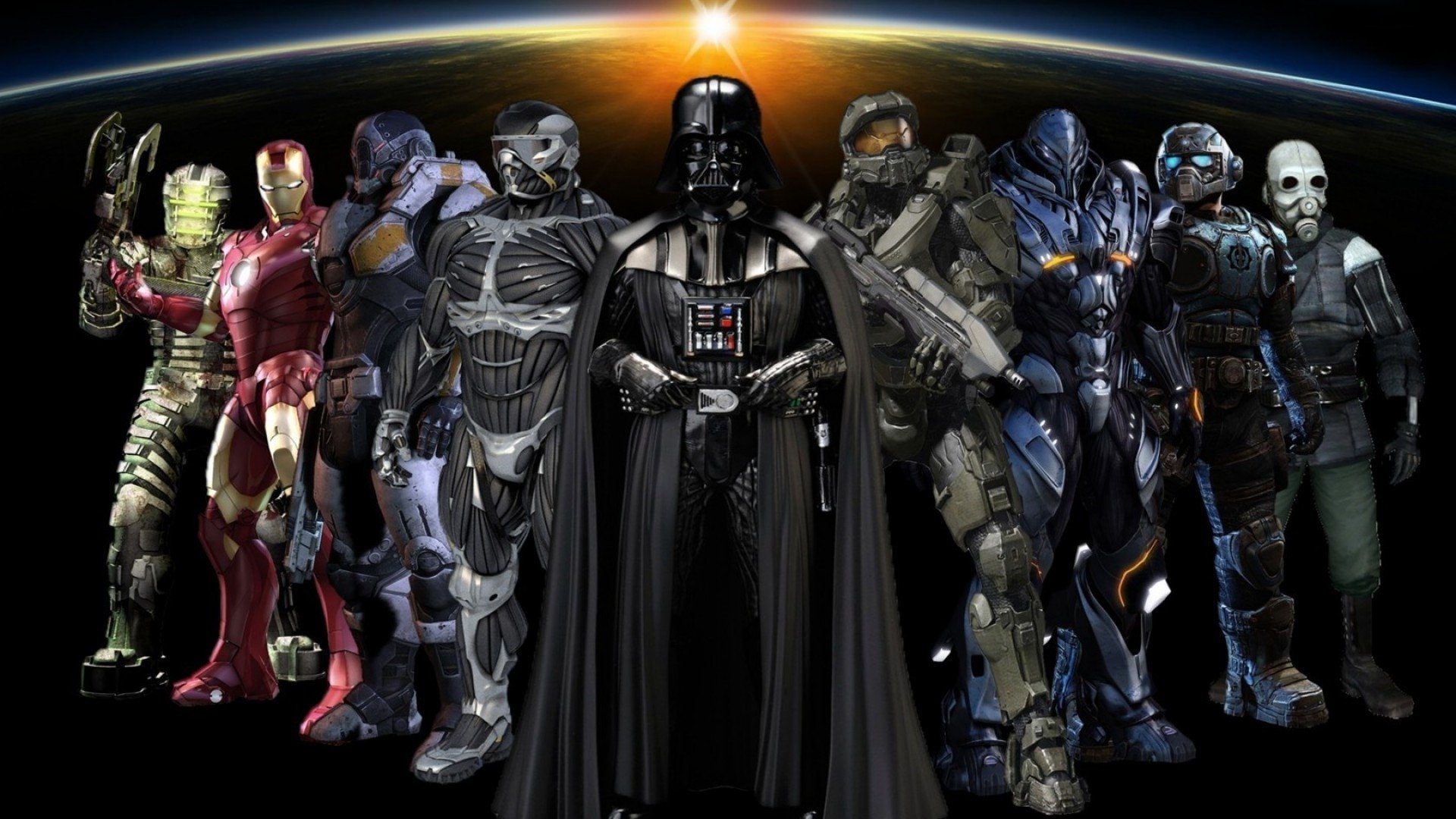 Video Game Character Collage Wallpaper Collage Full HD...