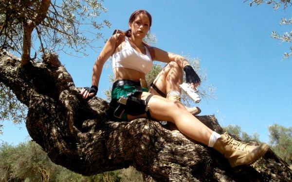 Women Cosplay Tomb Raider Lara Croft HD Wallpaper   Background Image