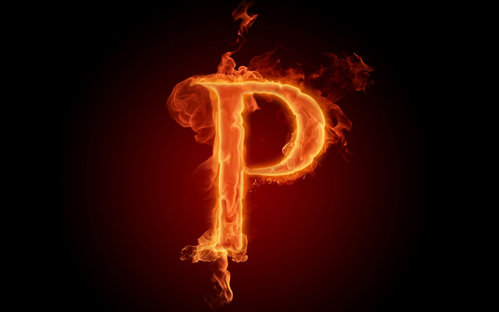 Hd Wallpaper Letter N: Flaming P Full HD Wallpaper And Background Image