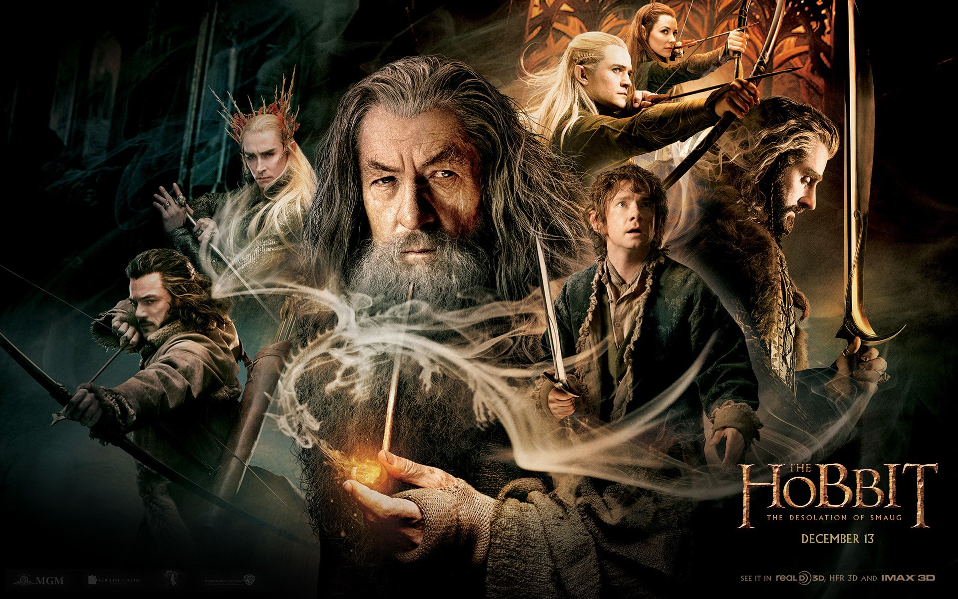 Gandalf The Hobbit Desolation Of Smaug HD Wallpaper