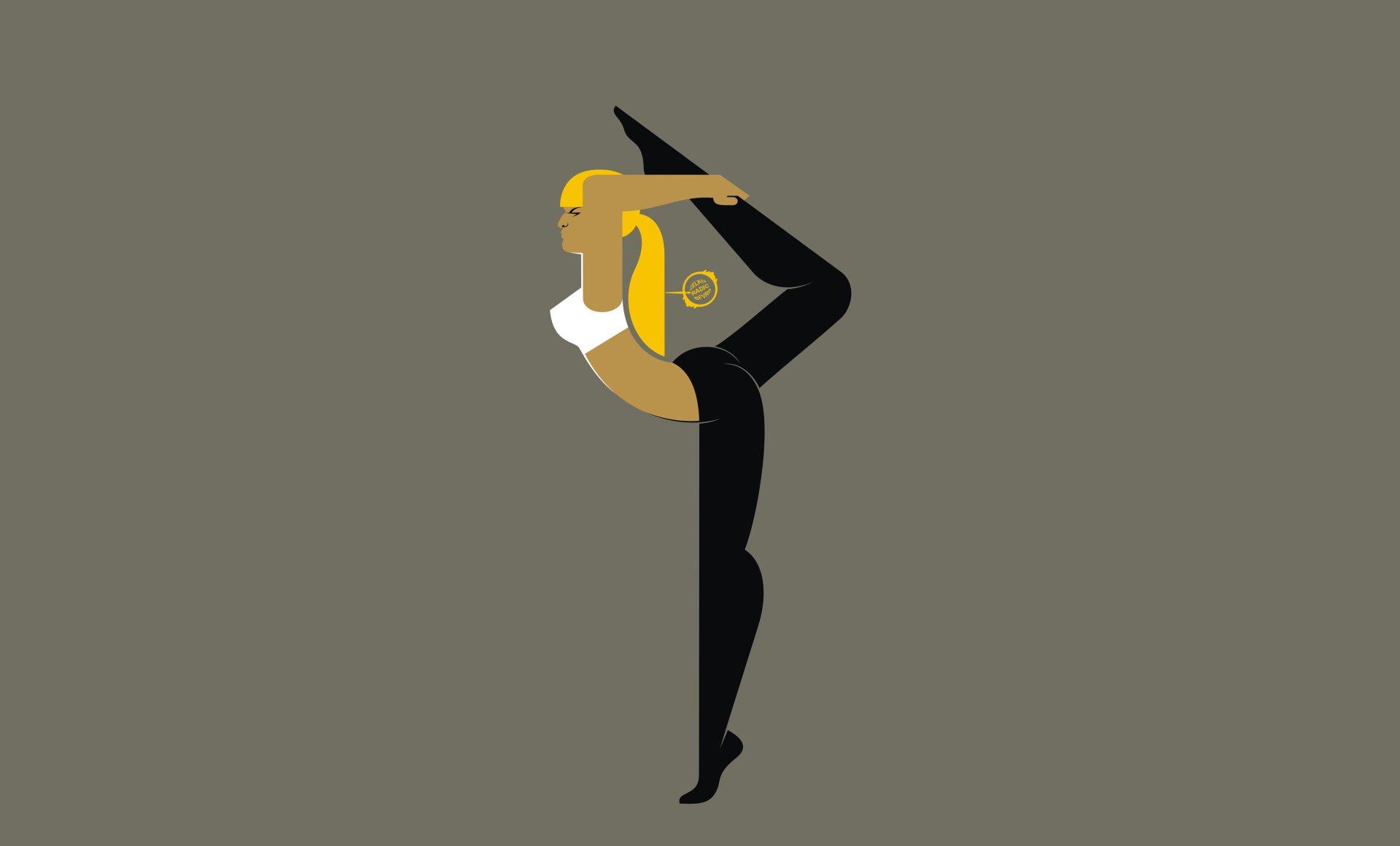 CGI - Women  Geometry Girl Gymnastics Yoga Wallpaper