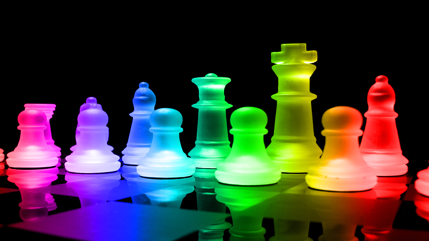 Rainbow Chess Wallpaper and Background 1366x768 ID470093