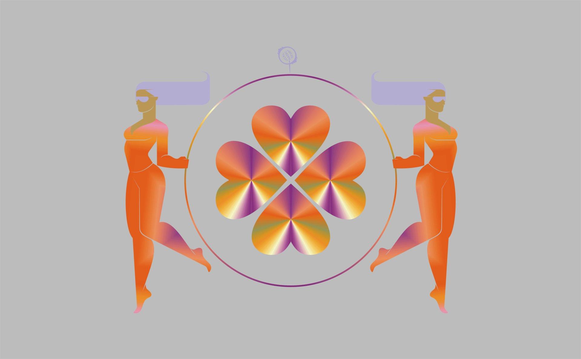 Artistic - CGI  Geometry Girl Heart Symbol Wallpaper