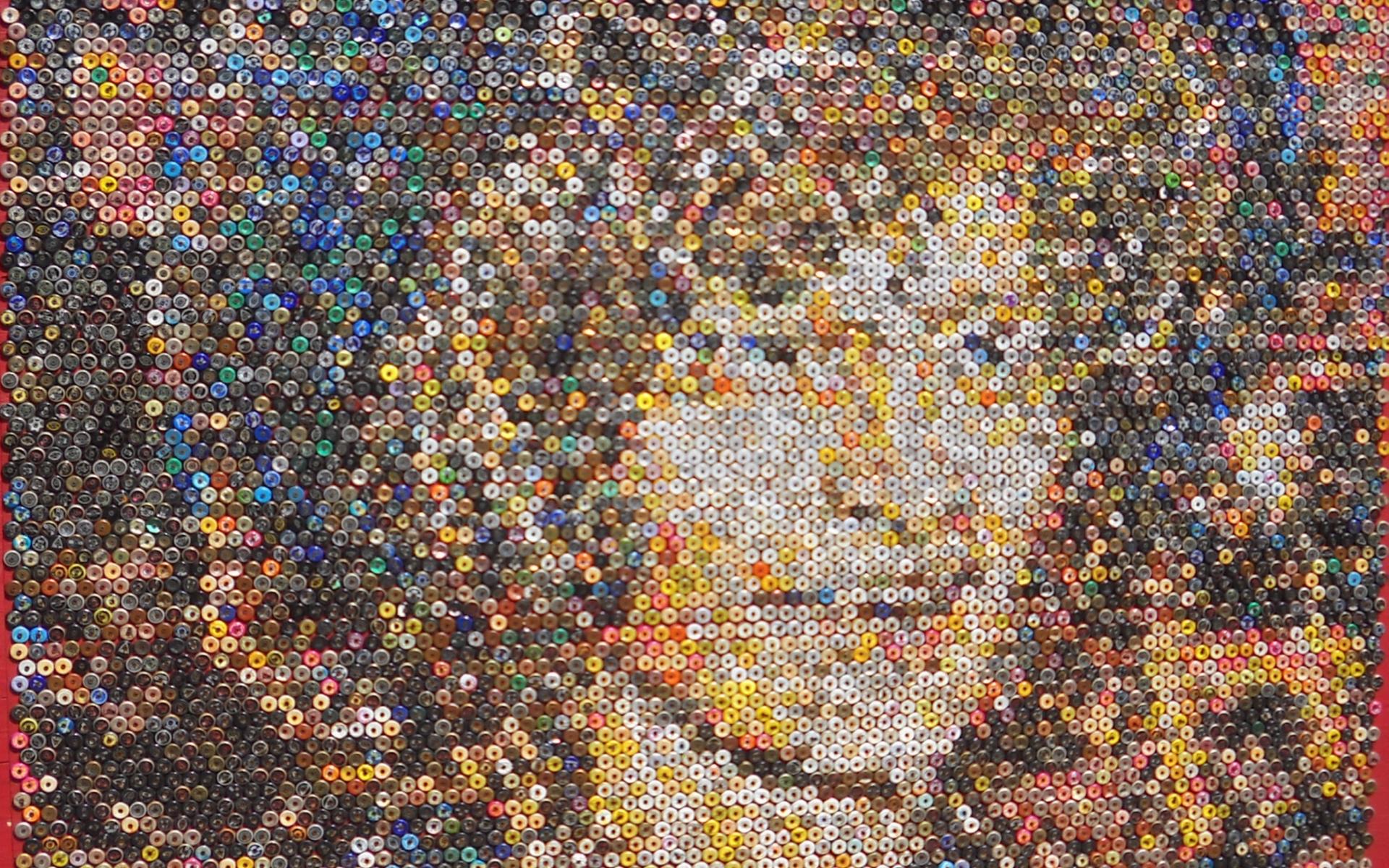 Beer Bottle Cap Mosaic Computer Wallpapers Desktop