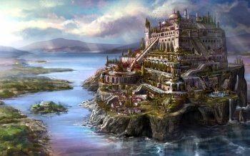 Fantasy - City Wallpapers and Backgrounds ID : 480013