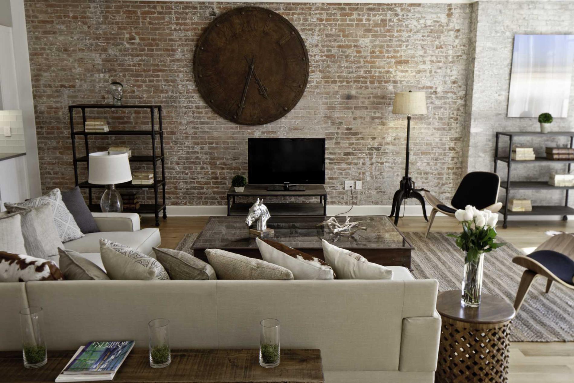 Brick living room furniture