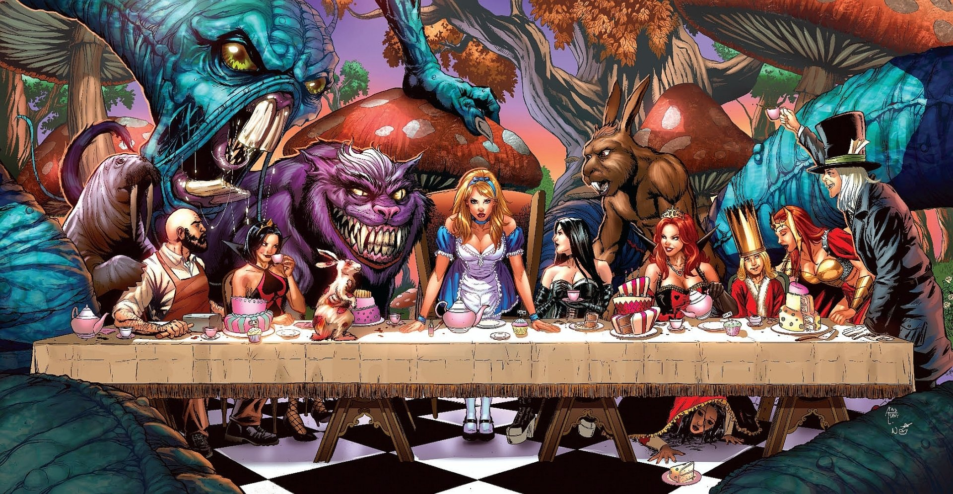 6 grimm fairy tales: alice in wonderland hd wallpapers | background