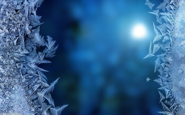 Abstract Ice Crystal HD Wallpaper   Background Image