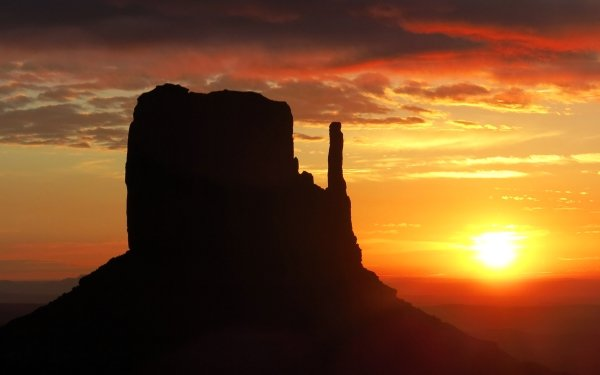 Earth Sunset Monument Valley HD Wallpaper | Background Image