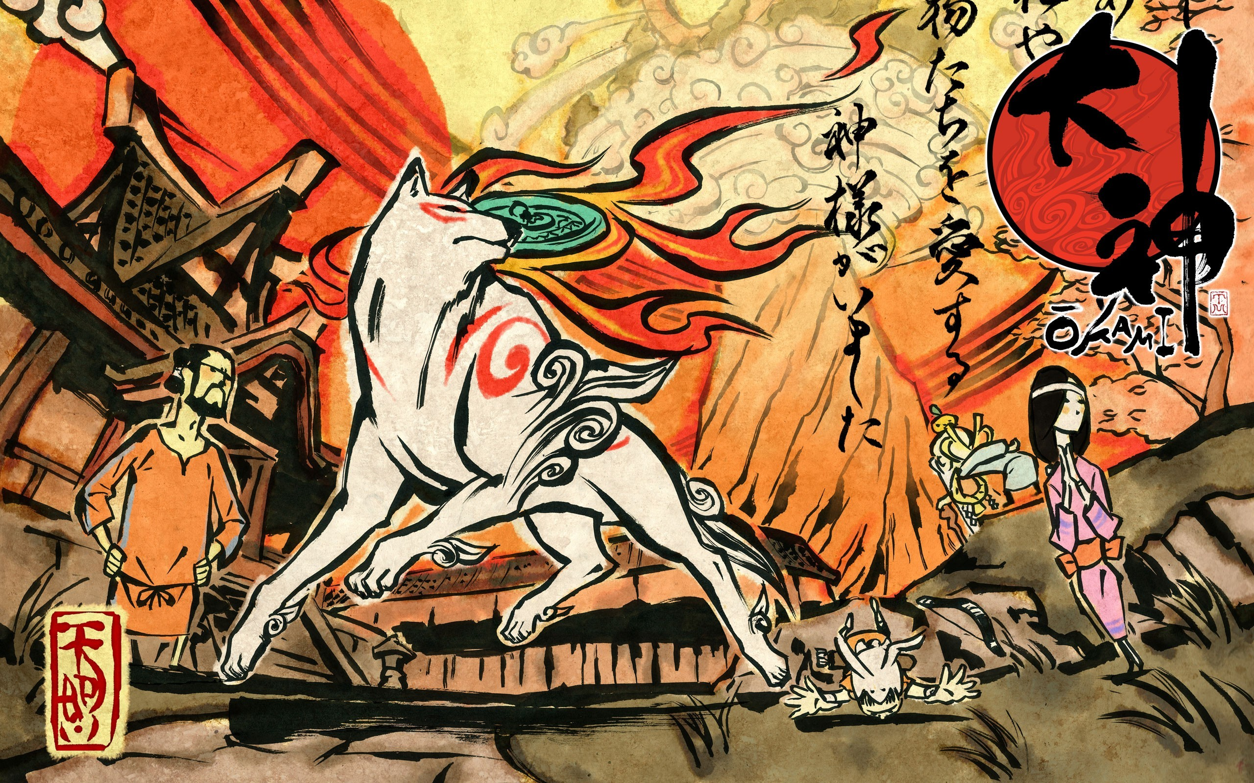 Okami Full HD Wallpaper And Background Image