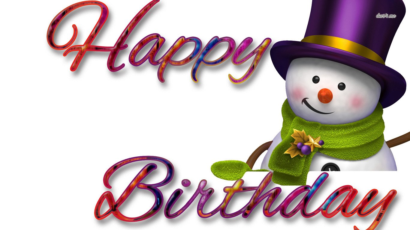 Holiday - Birthday  Snowman Colorful Wallpaper