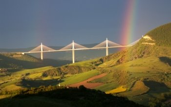 7 Millau Viaduct HD Wallpapers | Background Images ... |Millau Viaduct Hd
