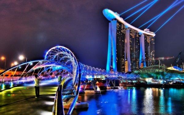 Man Made The Helix Bridge Bridges Bridge Singapore HD Wallpaper   Background Image
