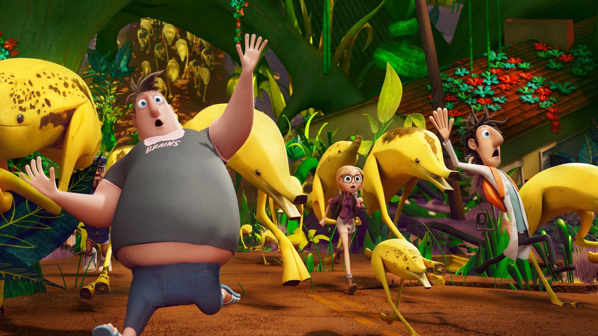 Cloudy With A Chance Of Meatballs 2 Full HD Wallpaper And Background