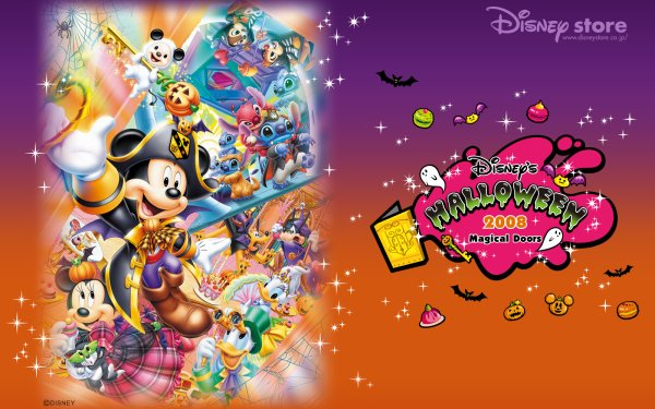 Movie Disney Halloween Mickey Mouse Minnie Mouse Stitch Donald Duck Chip 'n' Dale Daisy Duck HD Wallpaper | Background Image