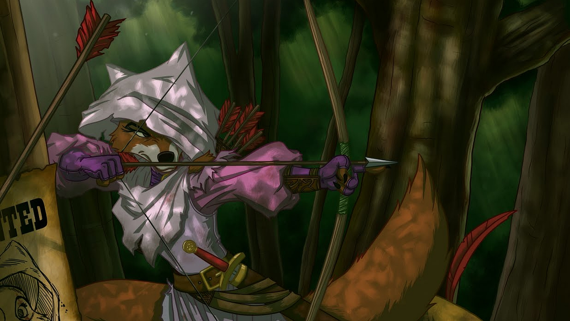 Robin hood full hd wallpaper and background image - Hood cartoon wallpaper ...